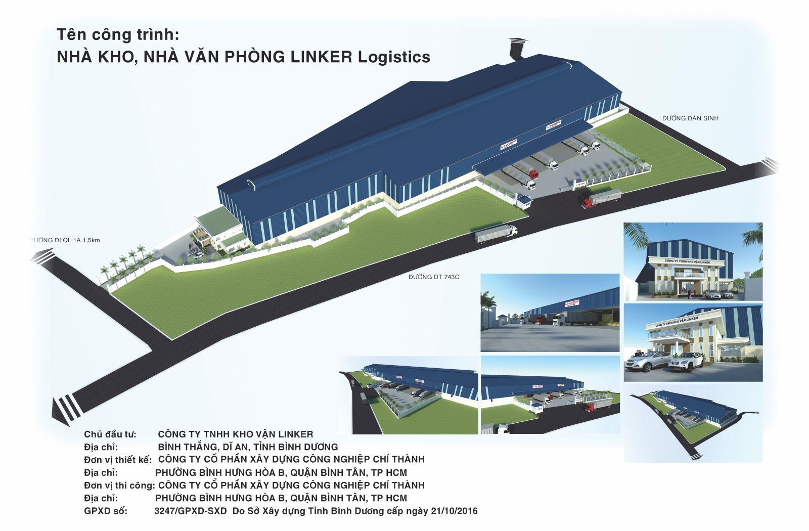 Công trình nhà kho Linker